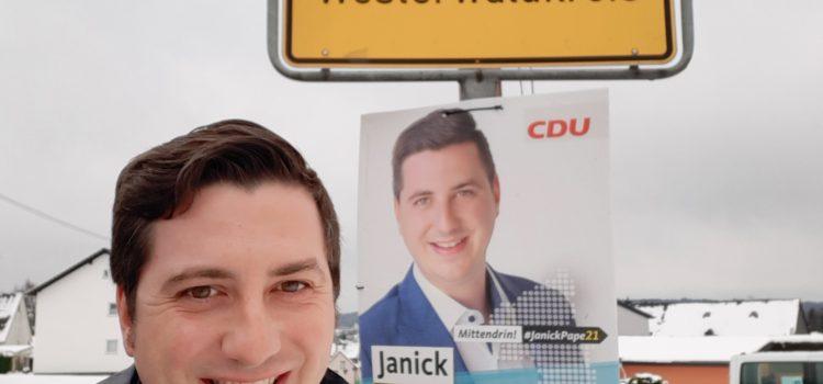 Janick Pape besucht die Orte in der VG Selters!<br>Zu Besuch in Herschbach